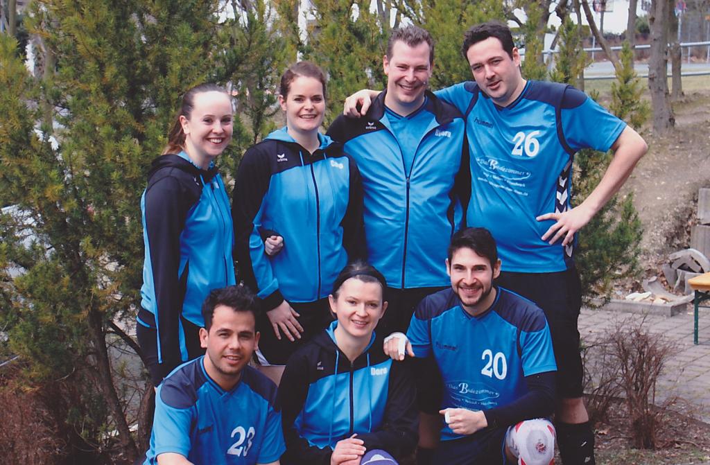 Team: Nina, Caro, Björn, 'Spidy' Toni, Nader, Doro und Jorge